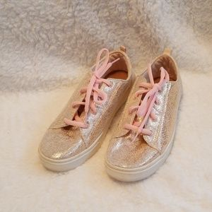 Tom's rose gold sneakers